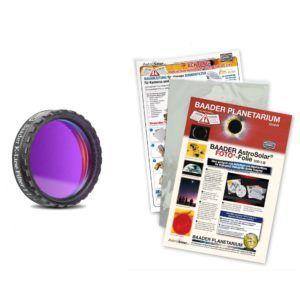 Caratteristiche tecniche e prezzi filtro solare Calcio-K + Astrosolar Baader Planetarium in foglio 20X29 densità 3.8