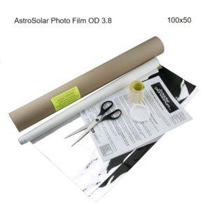 Caratteristiche tecniche e prezzi filtro solare Astrosolar Baader Planetarium in foglio 100X50 densità 3.8