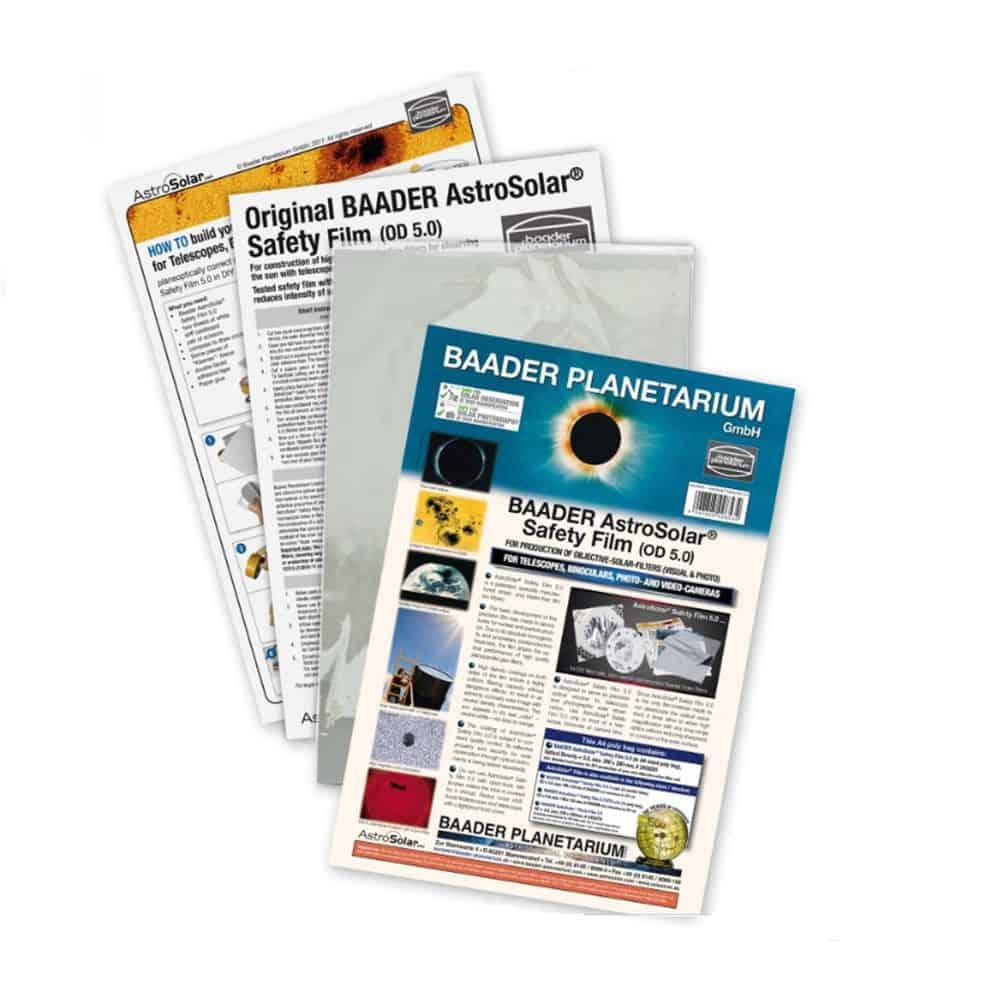 Caratteristiche tecniche e prezzi filtro solare Astrosolar Baader Planetarium in foglio 20X29 densità 5