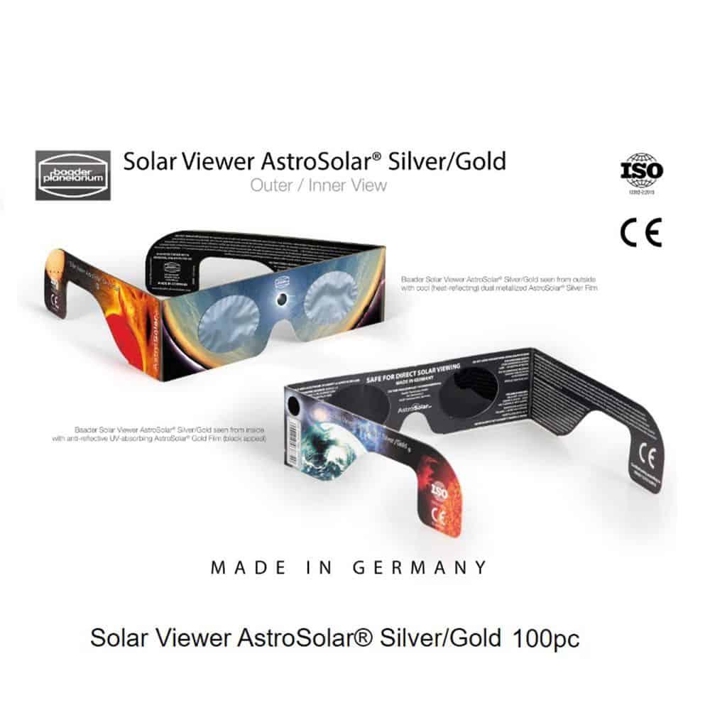Caratteristiche tecniche e prezzi occhialini solare per eclissi Astrosolar Baader Planetarium 100pz