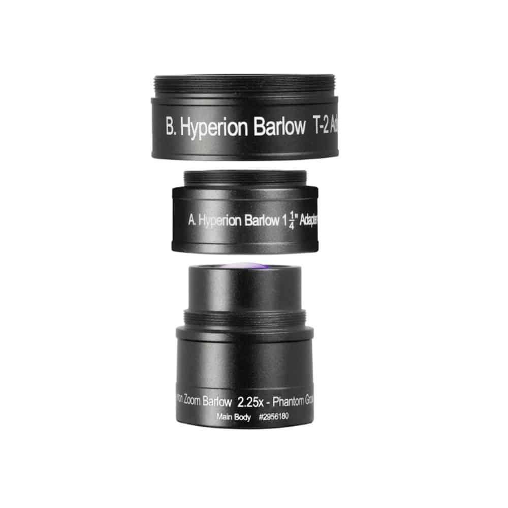 Caratteristiche tecniche e prezzi Lente di Barlow Hyperion 2.25X Baader Planetarium