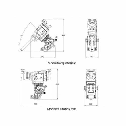 Disegno tecnico Skywatcher AZ-EQ6 PRO Synscan