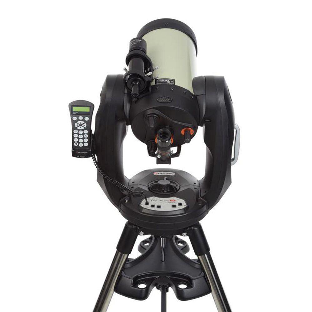 Vista retro telescopio Celestron CPC Deluxe HD