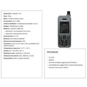 Scheda tecnica telefono satellitare Thuraya XT LITE