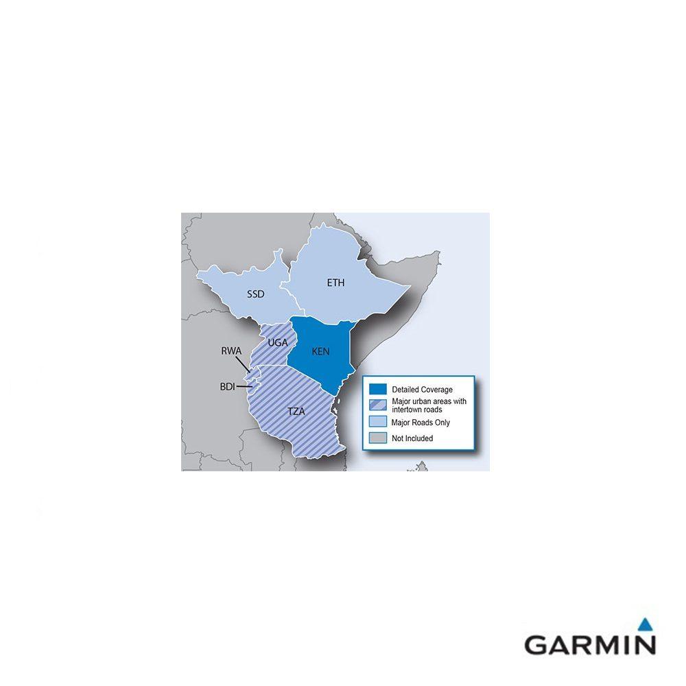 Caratteristiche tecniche e prezzi cartografia Garmin City Navigator NT Est Africa copertura
