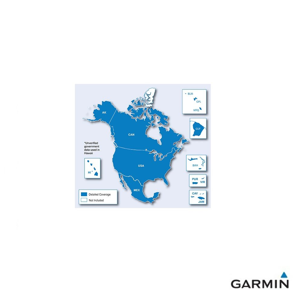 Caratteristiche tecniche e prezzi cartografia Garmin City Navigator NT Nord America Copertura
