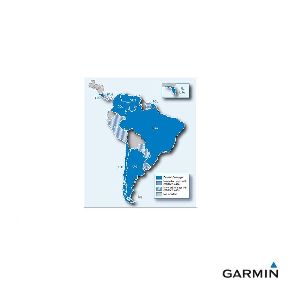 Caratteristiche tecniche e prezzi cartografia Garmin City Navigator NT Sud America copertura