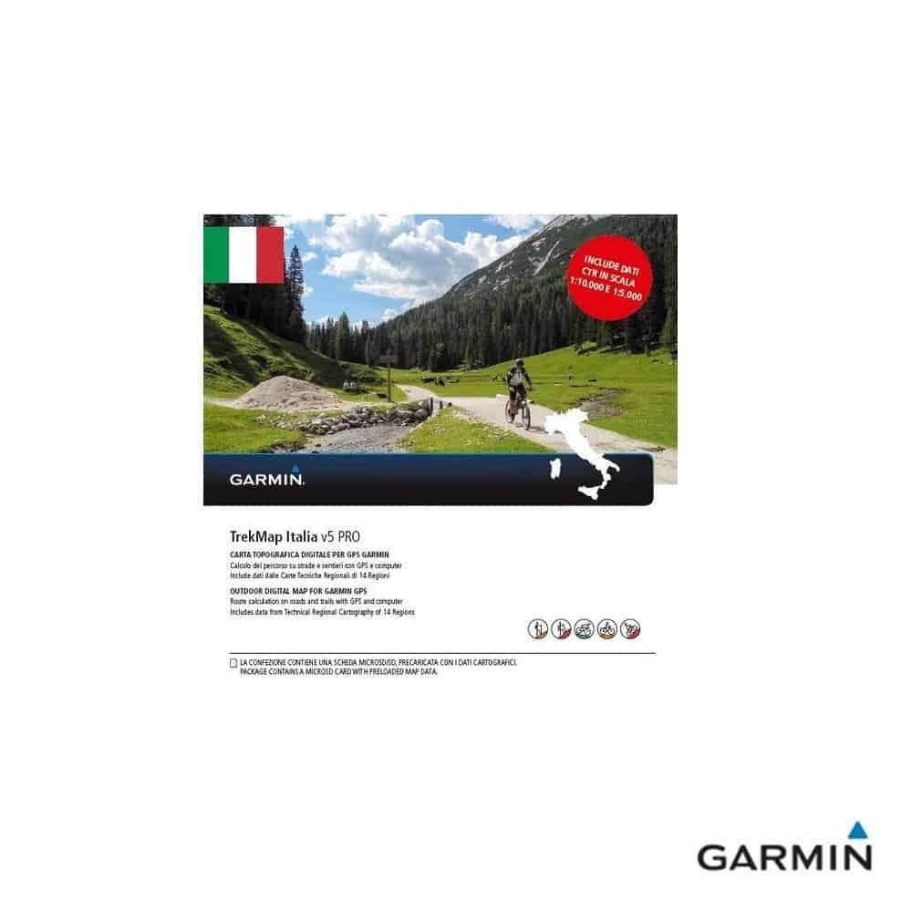 Caratteristiche tecniche e prezzi cartografia dei sentieri Garmin TrakMap Italia V5 PRO