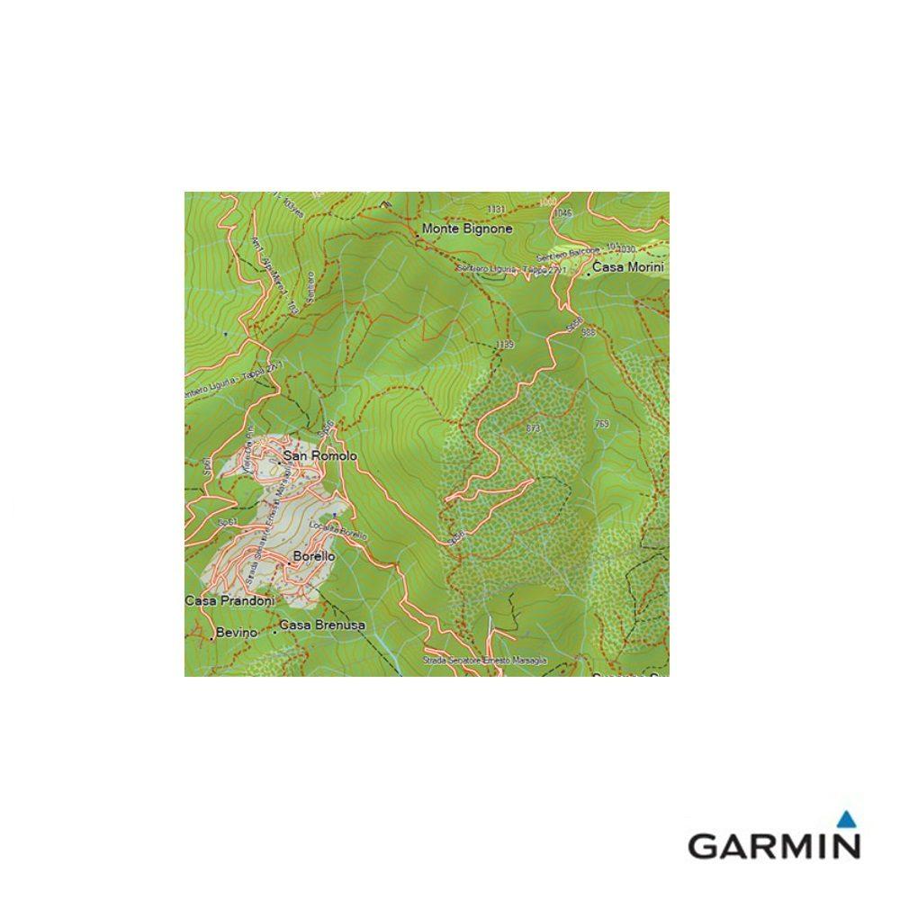 Caratteristiche tecniche e prezzi cartografia dei sentieri Garmin TrakMap Italia V5 PRO DETTAGLIO