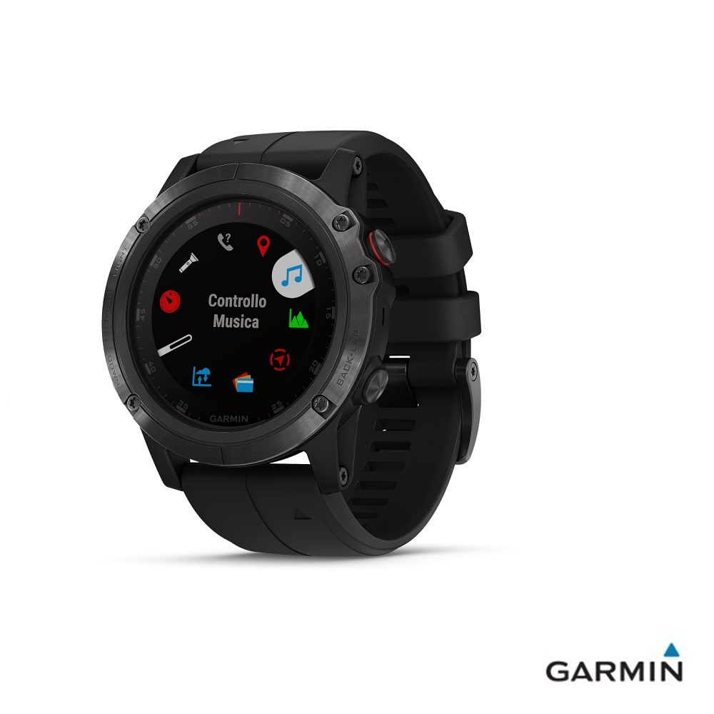 Caratteristiche tecniche e prezzi orologio GPS Garmin fenix 5X Plus Black menu multifunzioni