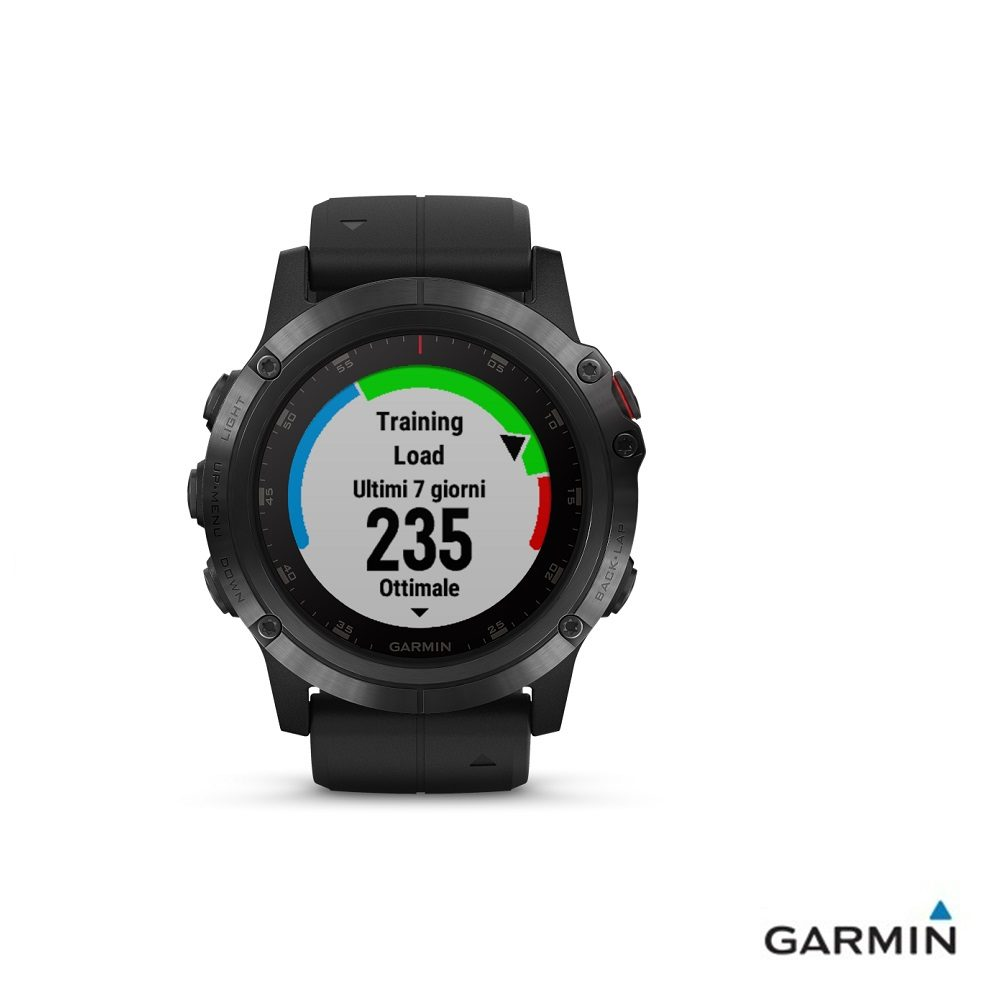 Caratteristiche tecniche e prezzi orologio GPS Garmin fenix 5X Plus Black grafico attività sportiva