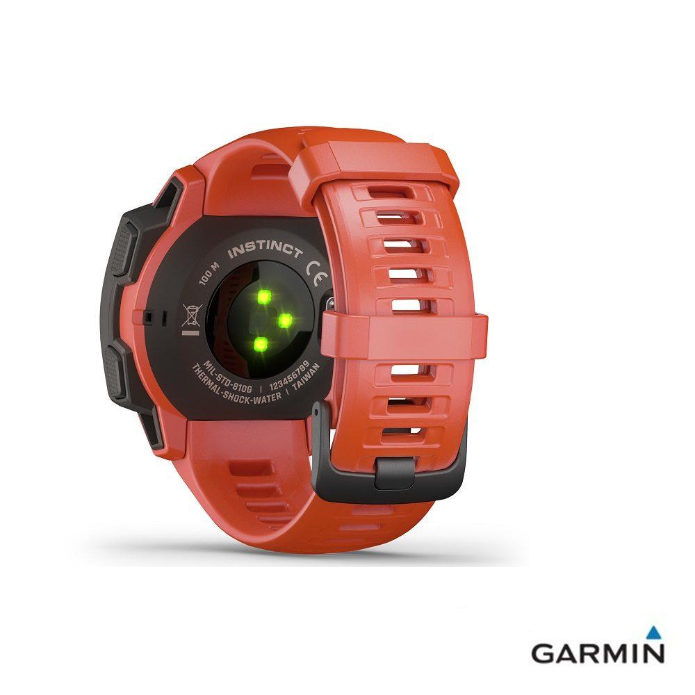Caratteristiche tecniche e prezzi orologio GPS Garmin Instinct flame red multiattività con cardiofrequenzimetro