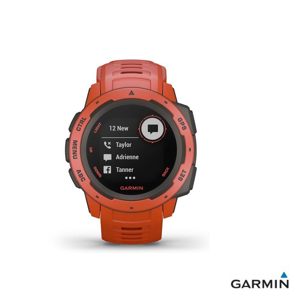 Caratteristiche tecniche e prezzi orologio GPS Garmin Instinct flame red multiattività smartwatch