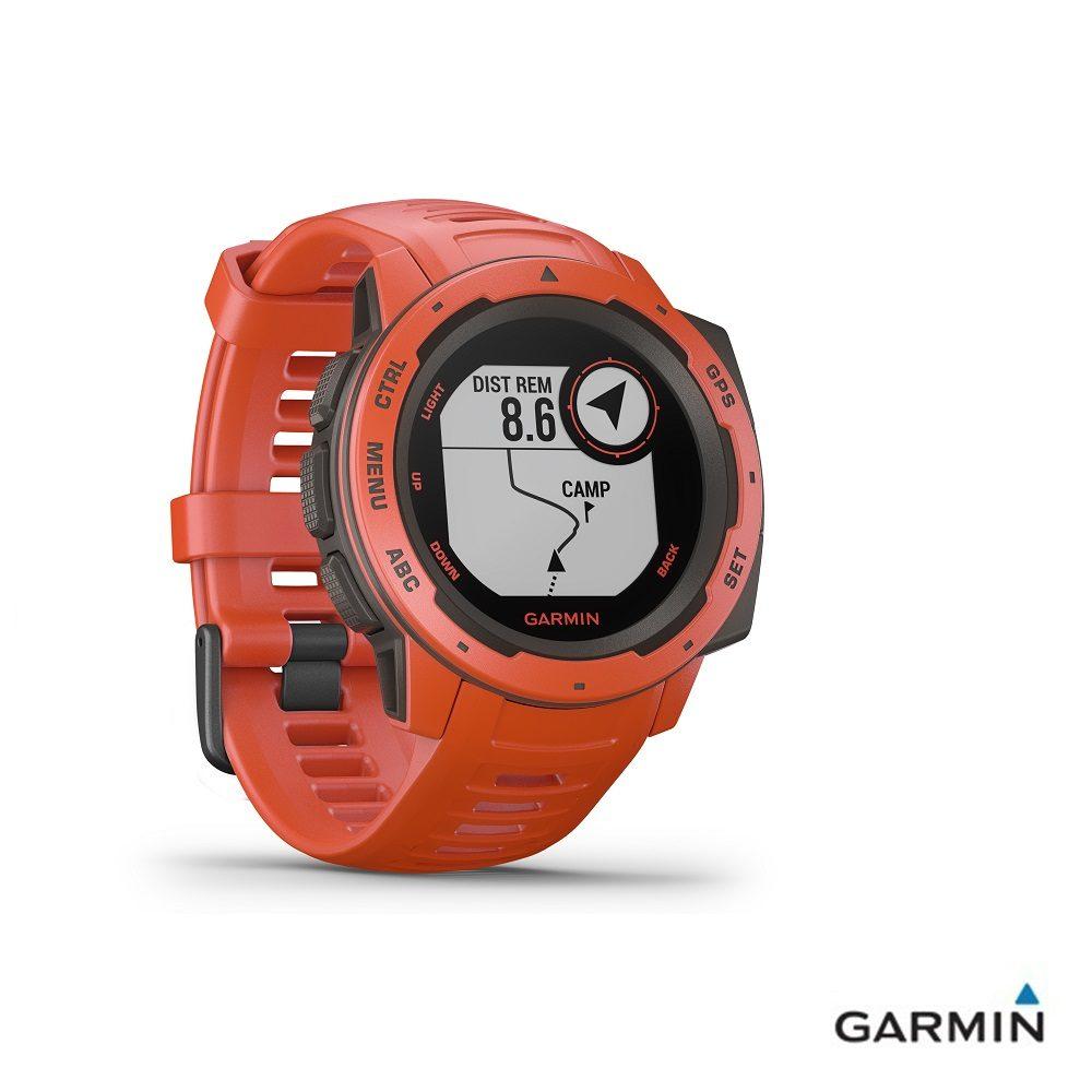 Caratteristiche tecniche e prezzi orologio GPS Garmin Instinct flame red multiattività e tracce