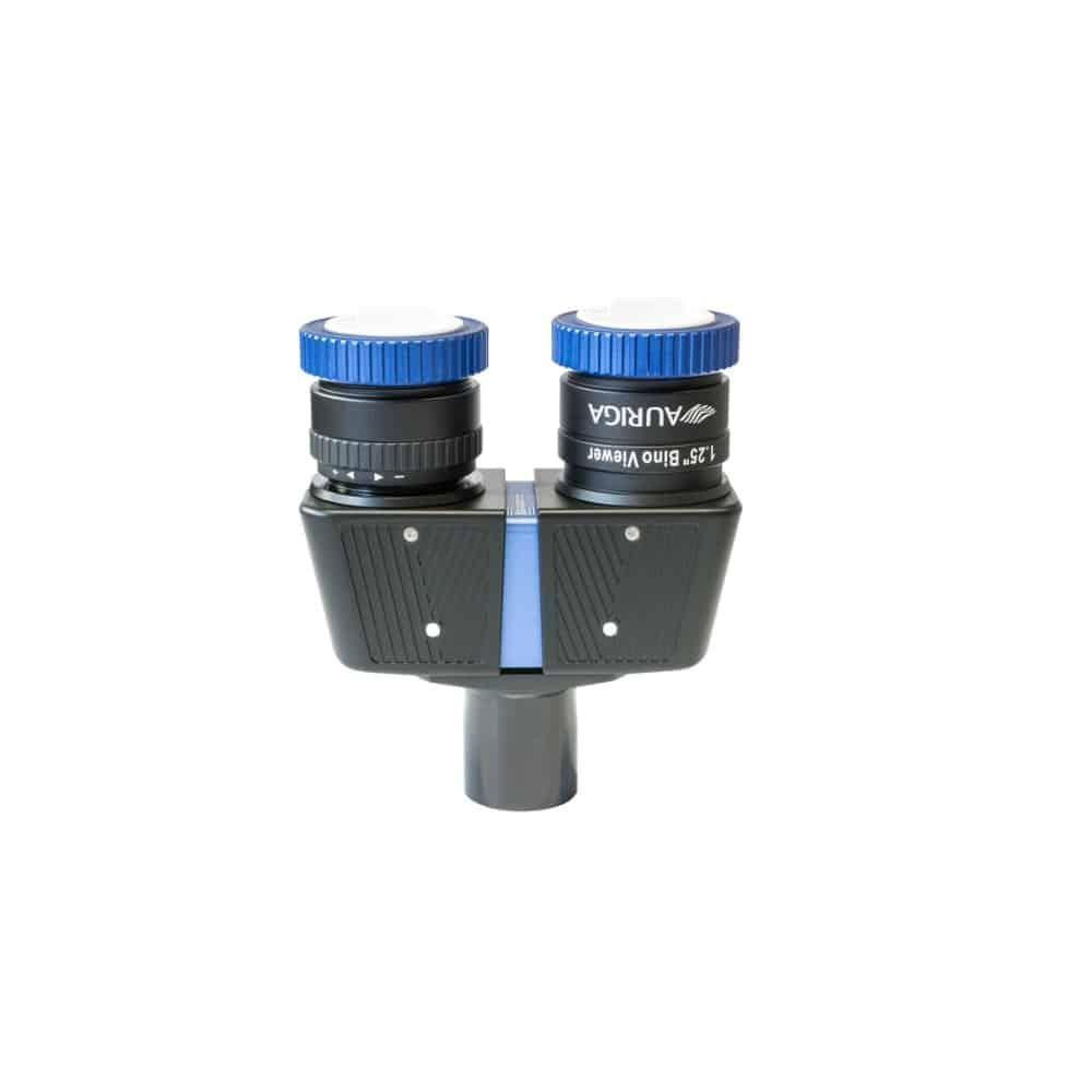 Caratteristiche tecniche torretta binoculare Auriga con sistema di serraggio Quick Lock