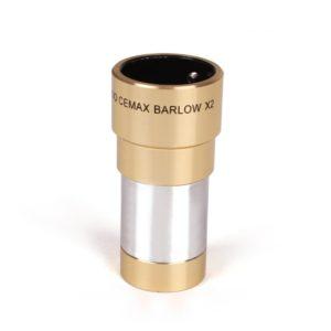 Caratteristiche tecniche e prezzi lente di Barlow 2X Coronado Cemax ottimizzata per la visione con i telescopi solari H-Alpha