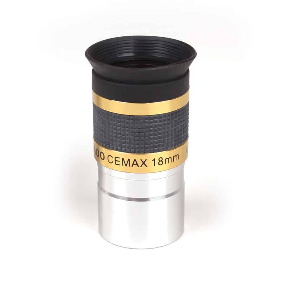 Caratteristiche tecniche e prezzi oculare Coronado Cemax 18mm ottimizzato per la visione con i telescopi solari H-Alpha