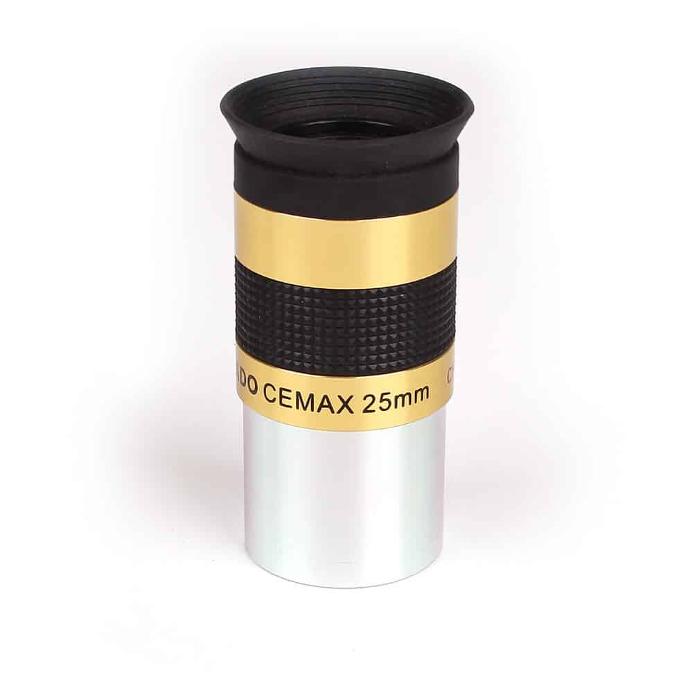 Caratteristiche tecniche e prezzi oculare Coronado Cemax 25mm ottimizzato per la visione con i telescopi solari H-Alpha