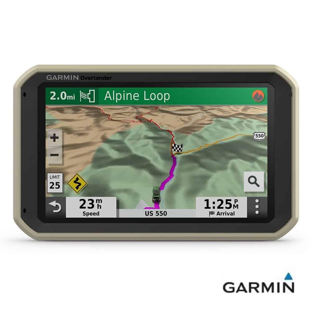Caratteristiche tecniche e prezzi navigatore per Camper e fuoristrada Garmin Overlander