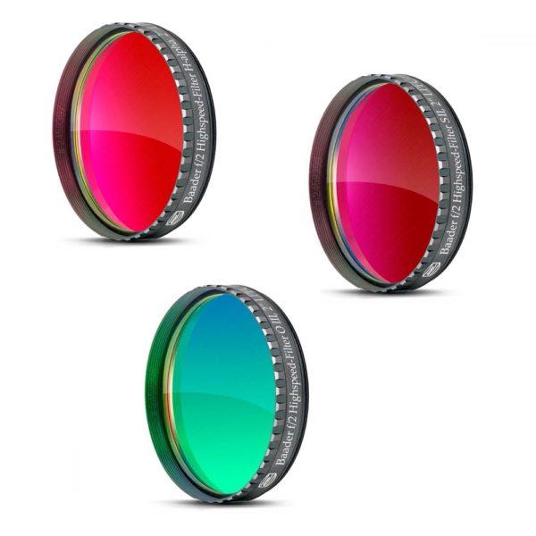 Caratteristiche tecniche e prezzi set filtri Baader Planetarium Highspeed f.2 H-Alpha, S-II, O-III da 50,8mm
